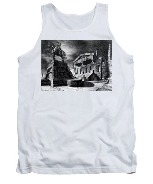Tank Top featuring the drawing Temple Of Perseus by Curtiss Shaffer