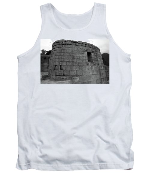 Tank Top featuring the photograph Temple Of The Sun, Machu Picchu, Peru by Aidan Moran