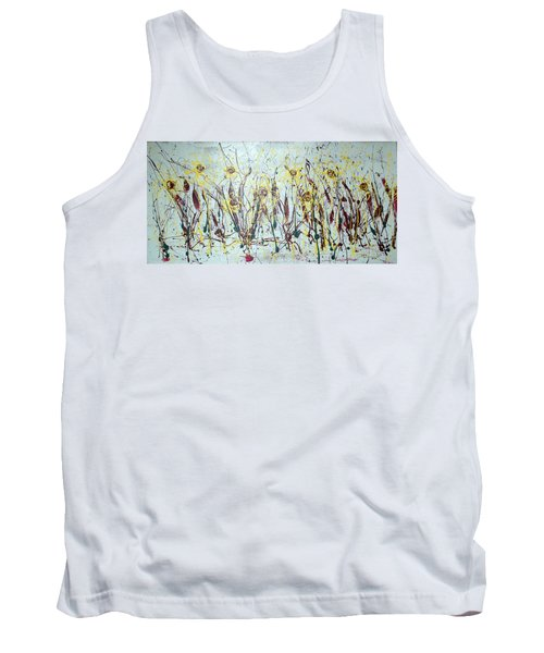 Tank Top featuring the painting Tending My Garden by J R Seymour