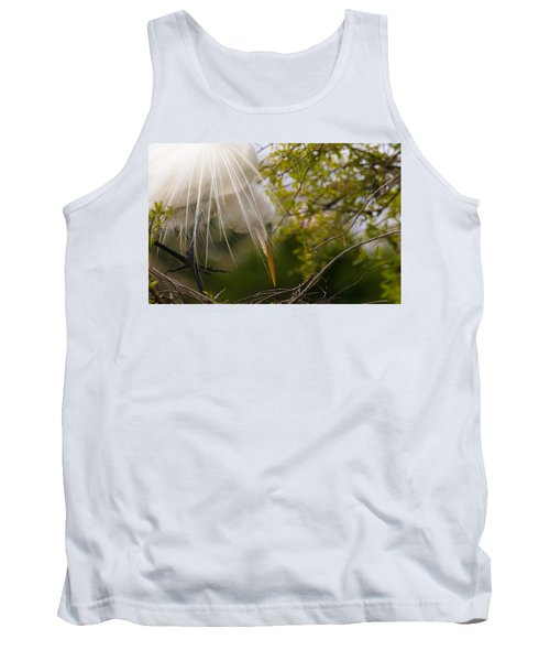 Tank Top featuring the photograph Tending To The Nest by Kelly Marquardt
