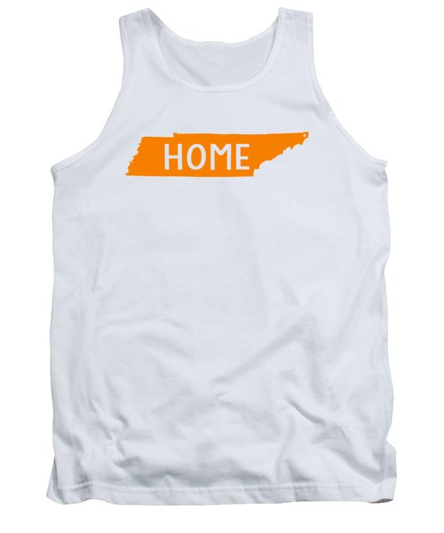 Tank Top featuring the digital art Tennessee Home Orange by Heather Applegate