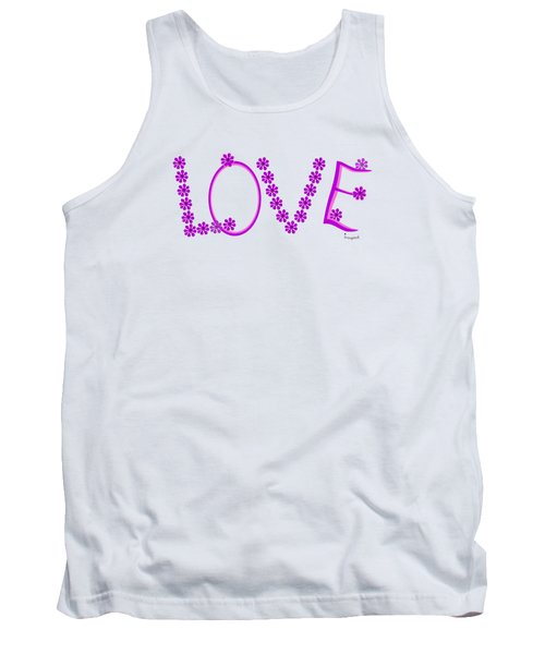 1281 -  Love    Colour Violet Tank Top by Irmgard Schoendorf Welch