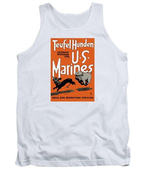 Teufel Hunden - German Nickname For Us Marines Tank Top