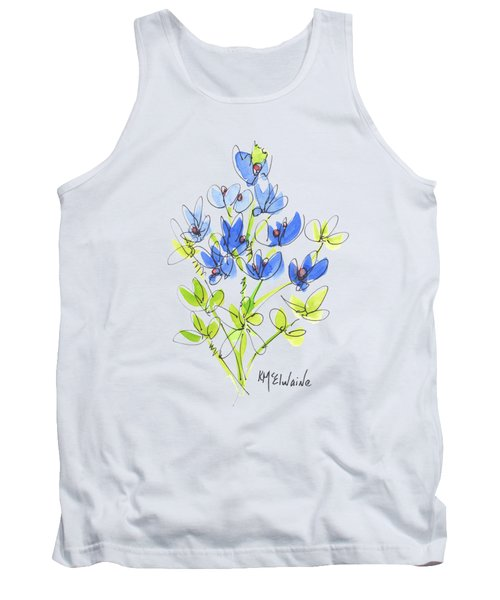 Texas Bluebonnet Botanical Tank Top