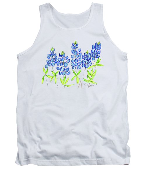 Texas Bluebonnets Watercolor Painting By Kmcelwaine Tank Top
