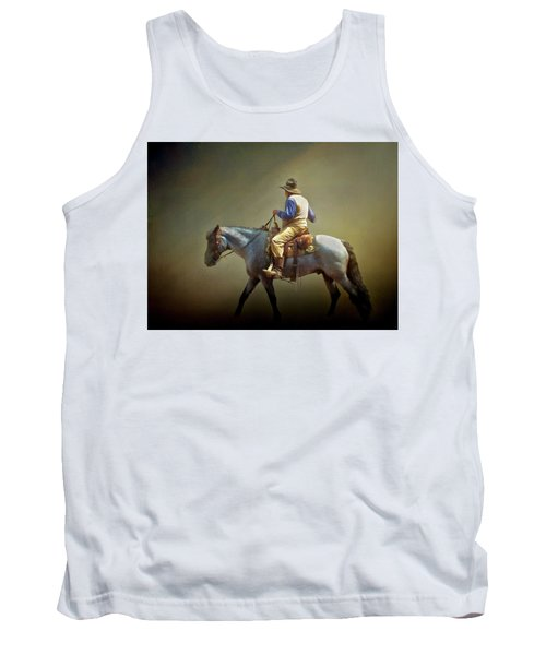 Tank Top featuring the photograph Texas Cowboy And His Horse by David and Carol Kelly