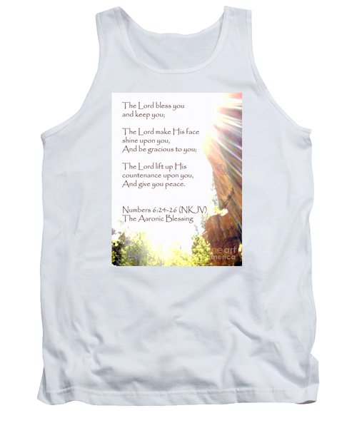 The Aaronic Blessing And True Light Lower Emerald Pools Zion Tank Top