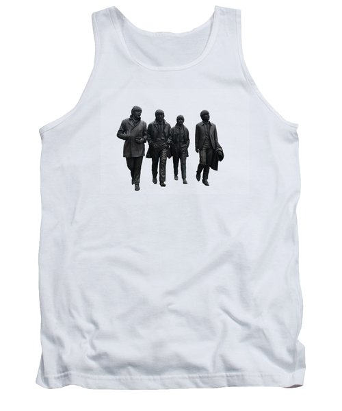 Tank Top featuring the digital art The Beatles On White by Movie Poster Prints
