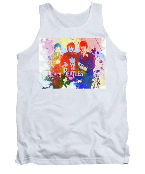 The Beatles Paint Splatter  Tank Top