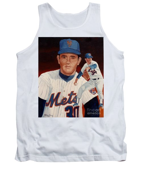 Tank Top featuring the painting From The Mets To The Rangers by Rosario Piazza