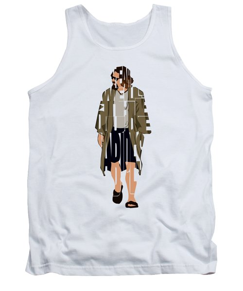 The Big Lebowski Inspired The Dude Typography Artwork Tank Top