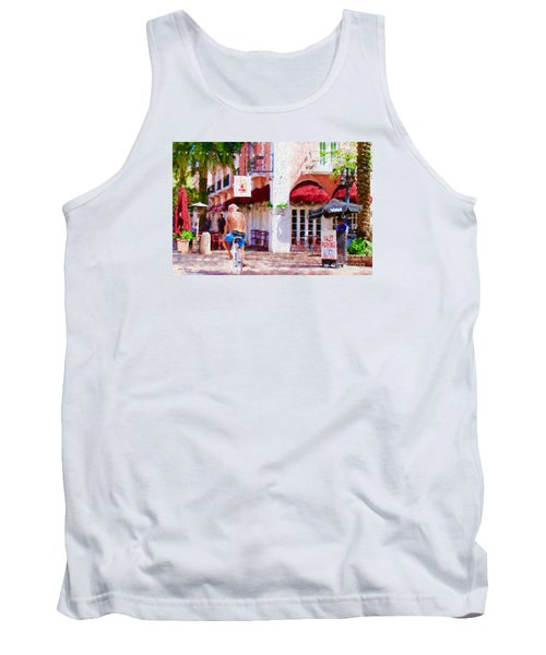 Tank Top featuring the painting The Biker by Judy Kay