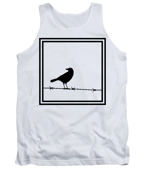 The Black Crow Knows T-shirt Tank Top by Edward Fielding