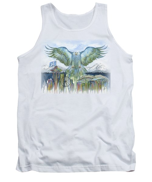 The Blue And Green Tank Top by Julie Senf