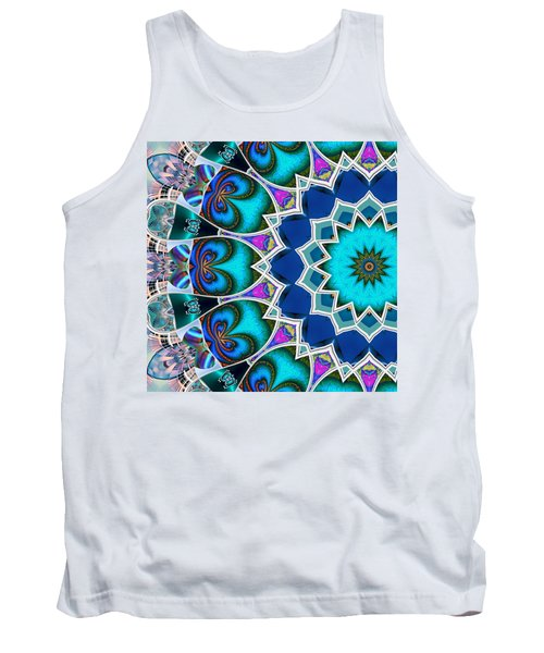 Tank Top featuring the digital art The Blue Collective 01b by Wendy J St Christopher