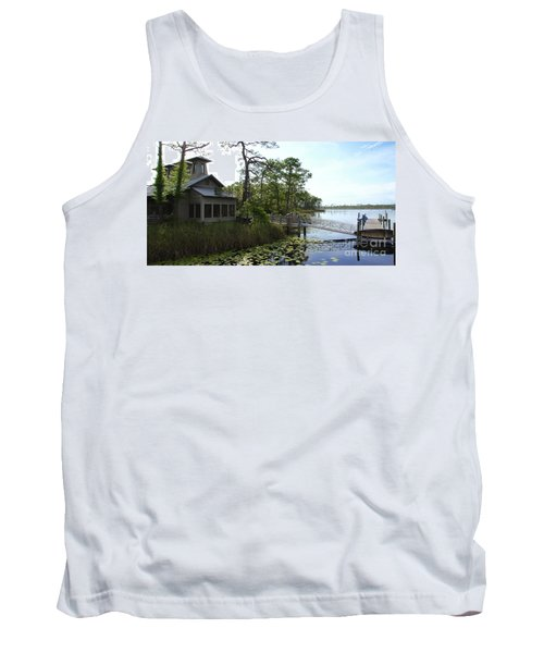 The Boathouse At Watercolor Tank Top by Megan Cohen