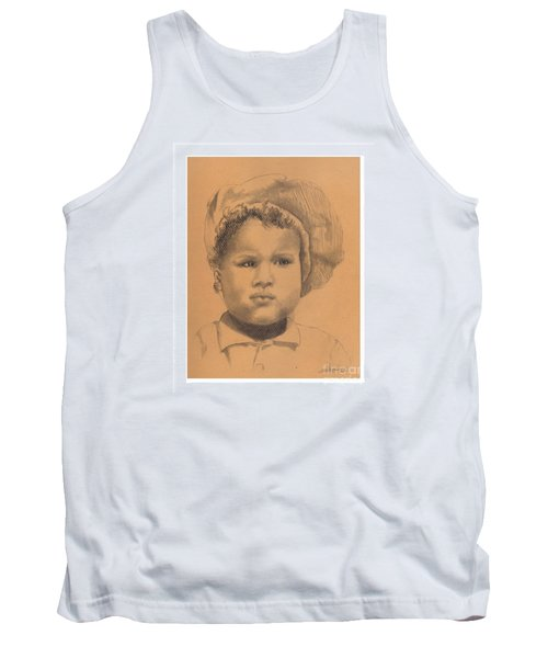 The Boy Who Hated Cheerios -- Portrait Of African-american Child Tank Top
