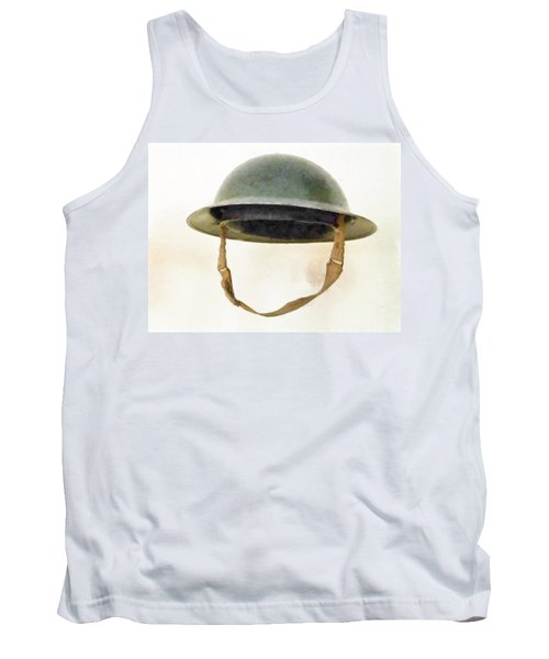 The British Brodie Helmet  Tank Top by Steve Taylor
