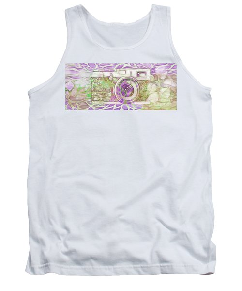 Tank Top featuring the digital art The Camera - 02c6 by Variance Collections