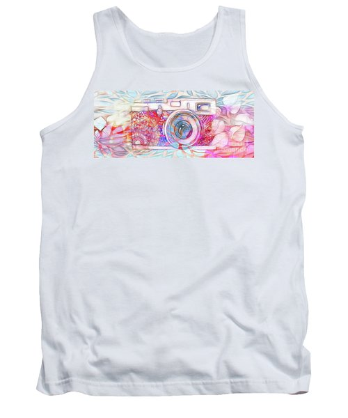 Tank Top featuring the digital art The Camera - 02c8v2 by Variance Collections