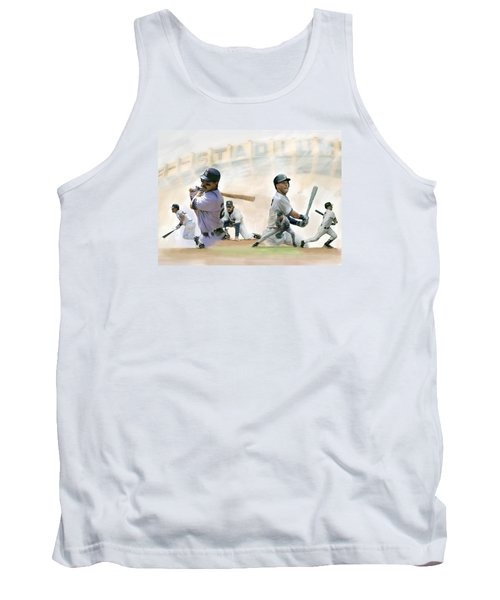 The Captains II Don Mattingly And Derek Jeter Tank Top by Iconic Images Art Gallery David Pucciarelli