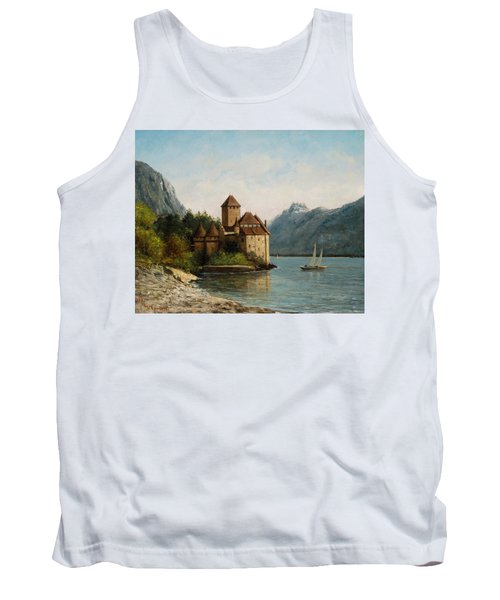 The Castle Of Chillon Evening Tank Top