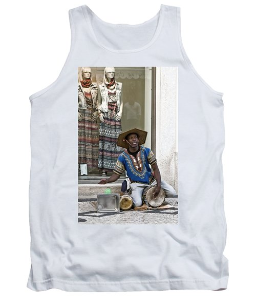 Tank Top featuring the photograph The Color Of Street Music by Lorraine Devon Wilke