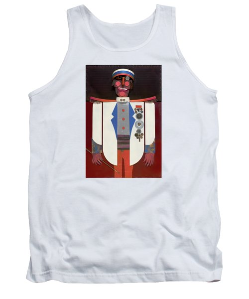 Tank Top featuring the painting The Commander by Bob Coonts
