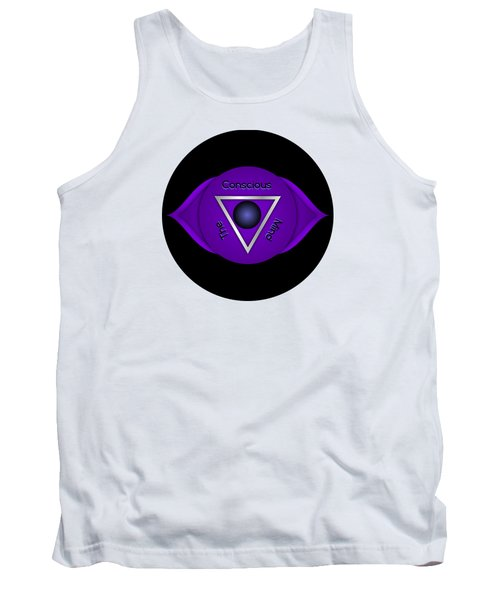 Third Eye Brow Chakra Art Print Inspirational Quote Prints  Tank Top
