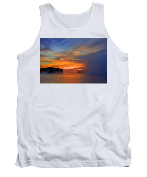The Creeping Fog Lake Oconee Georgia Tank Top