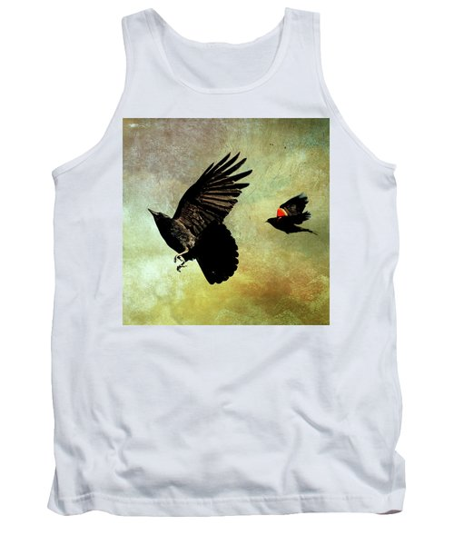The Crow And The Blackbird Tank Top by Peggy Collins