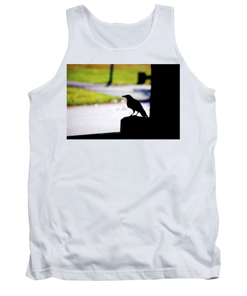 Tank Top featuring the photograph The Crow Awaits by Karol Livote
