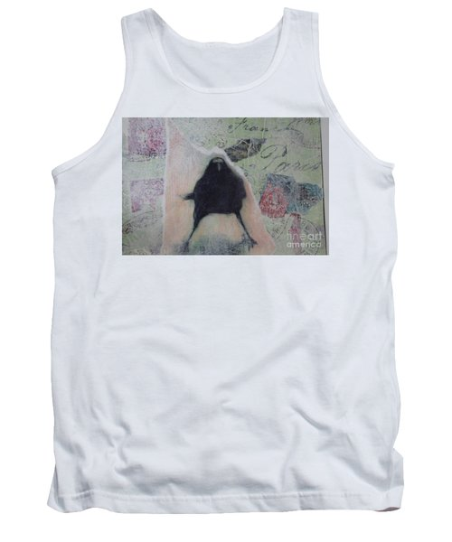 Tank Top featuring the painting The Crow Called The Raven Black by Kim Nelson