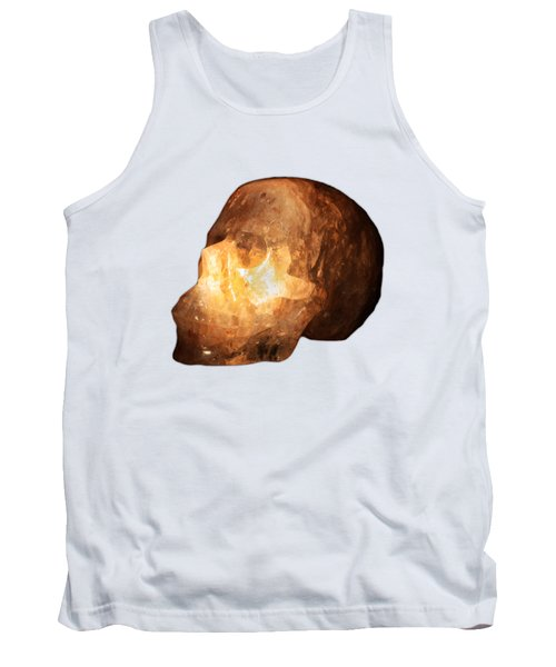The Crystal Skull On Transparent Background Tank Top by Terri Waters