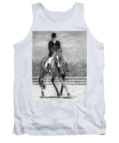 Tank Top featuring the drawing The Dance by Quwatha Valentine