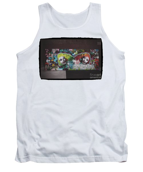 Tank Top featuring the photograph The Dark Side -  Graffiti by Colleen Kammerer