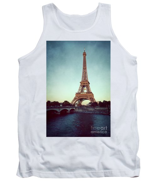 Tank Top featuring the photograph The Eifeltower by Hannes Cmarits