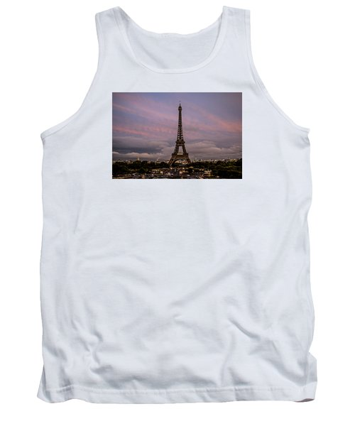The Eiffel Tower At Sunset Tank Top by Jean Haynes