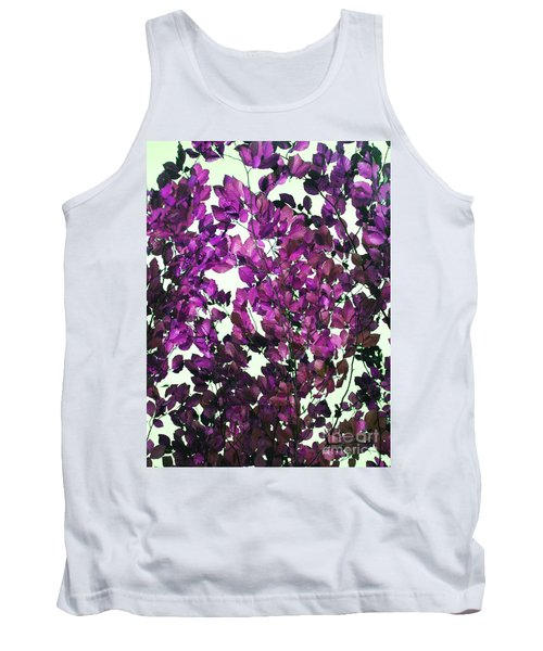 Tank Top featuring the photograph The Fall - Intense Fuchsia by Rebecca Harman