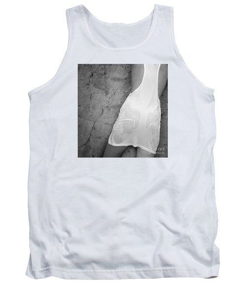 Tank Top featuring the photograph The Figure Of A Young Girl In A Wet Dress. by Andrey  Godyaykin