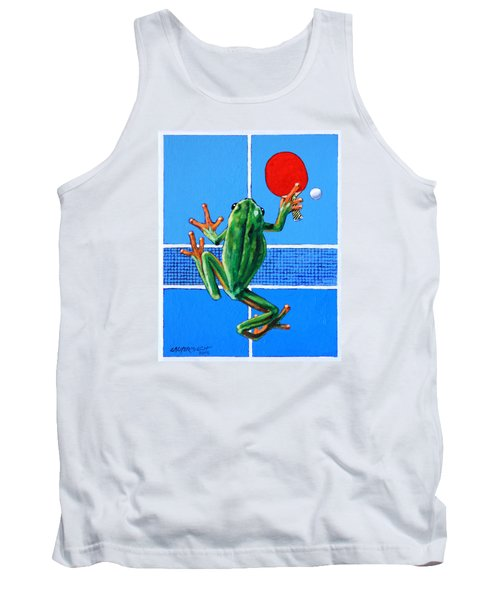 The Forehand Smash Tank Top by John Lautermilch