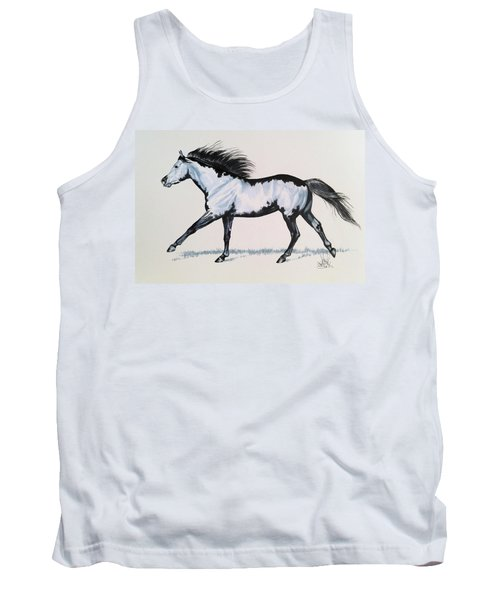 The Framed American Paint Horse Tank Top by Cheryl Poland