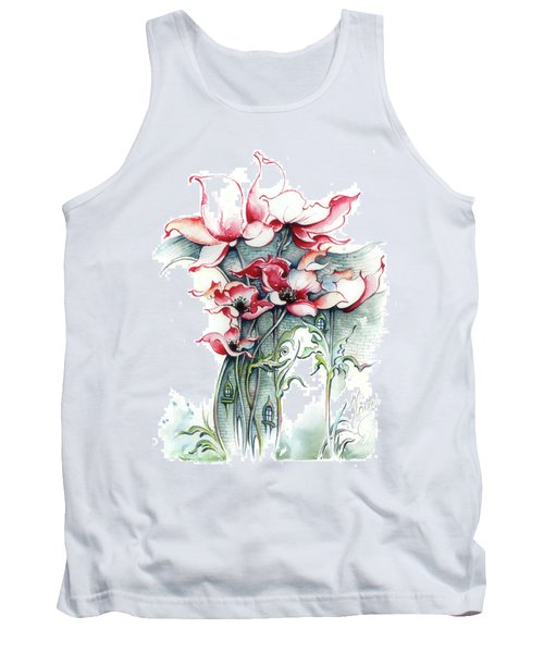 Tank Top featuring the painting The Gateway To Imagination by Anna Ewa Miarczynska