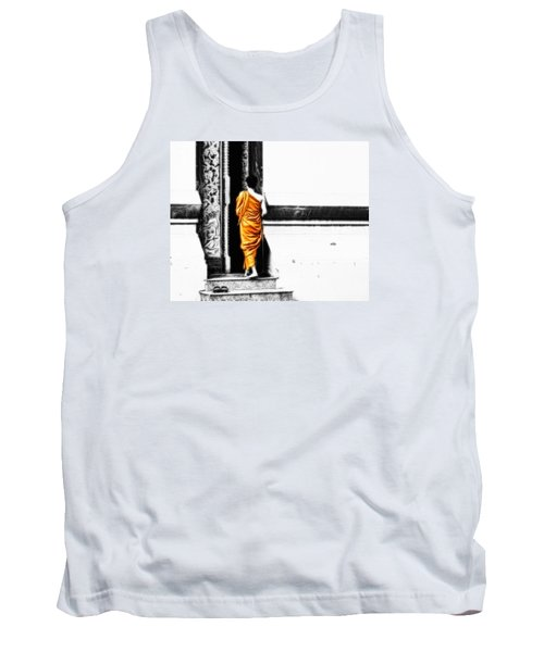 Tank Top featuring the photograph The Gilded Monk by Cameron Wood
