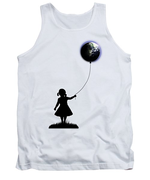 The Girl That Holds The World - White  Tank Top by Nicklas Gustafsson