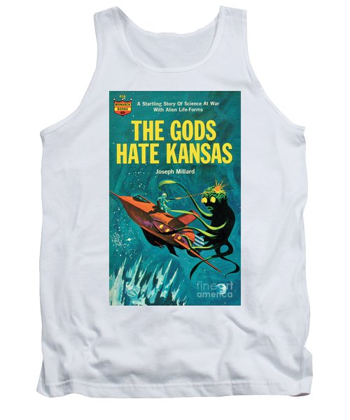 Tank Top featuring the painting The Gods Hate Kansas by Jack Thurston