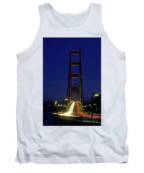 The Golden Gate Bridge Twilight Tank Top