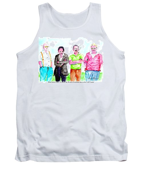The Golf Course, A Place For Solving Problems Tank Top