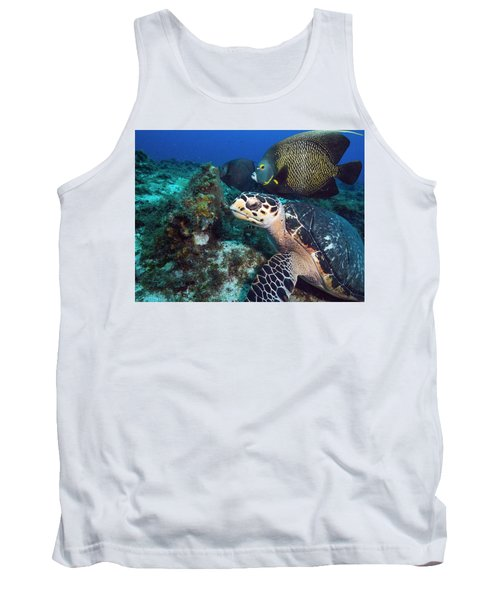 The Green Turtle And The Angelfish Tank Top