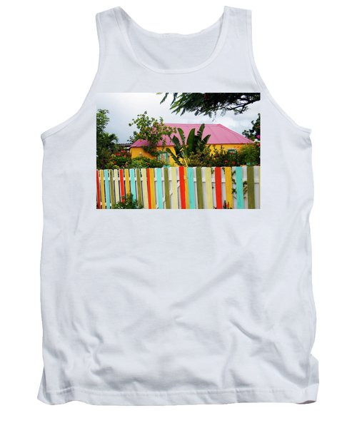 Tank Top featuring the photograph The Happy House, Island Of Curacao by Kurt Van Wagner